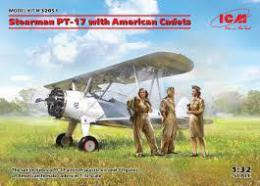 ICM 1/32 Stearman PT-17 with American Cadets (3 fig.)