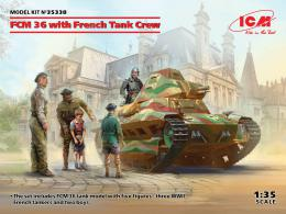 ICM 1/35 FCM 36 with French Tank Crew