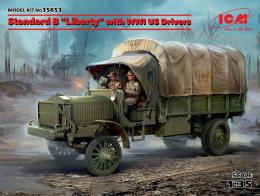 ICM 1/35 Standard B Liberty with US WWI drivers
