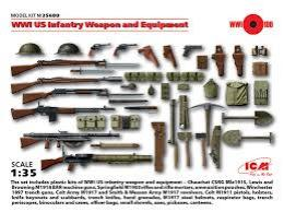 ICM 1/35 Us Infantry Weapon & Equipment