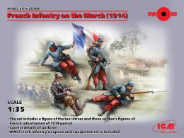 ICM 1/35 French Infantry on the March, 1914 (4 fig.)