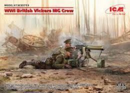 ICM 1/35 British WWI Vickers MG Crew (MG + 2 fig.)