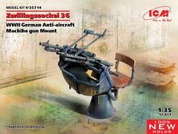 ICM 1/35 Zwillingssockel 36, German WWII AA MG Mount