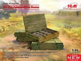 ICM 1/35 RS-132 Ammunition Boxes 4 boxes & 16 shells
