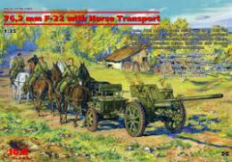 ICM 1/35 F-22 With Horse Transport