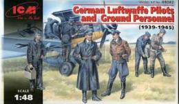 ICM 1/48  WWII Luftwaffe Pilots and Ground Personnel 39-45