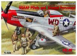 ICM 1/48  USAAF Pilots and Ground Personnel 39-45
