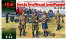 ICM 1/48  SSSR VVS Pilots and Ground Personnel 39-45