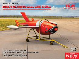 ICM 1/48 Q-2A (KDA-1) Firebee with trailer (1 airplane and trailer)