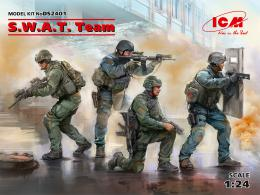 ICM 1/24 S.W.A.T  Team Diorama Set