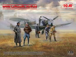 ICM 1/48 WWII Luftwaffe Airfield, Messerschmitt Bf 109F-4, Hs 126 B-1, German Luftwaffe Pilots and Ground Personnel 7 figures