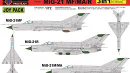 KOVOZÁVODY 1/72 MiG-21 MF/MA/R JOYPACK (3-in-1, no decals)