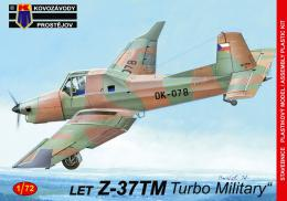 KOVOZÁVODY 1/72 Let Z-37TM  Turbo Military  (3x camo)