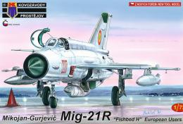 KOVOZÁVODY 1/72 MiG-21R Fishbed H European Users