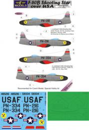 LF MODEL 1/32 Decal&mask F-80B Shooting Star over USA