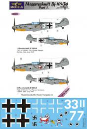 LF MODEL 1/32 Decals Messerschmitt Bf 109G-6 Comiso Pt.1