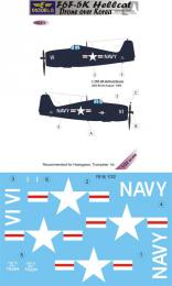 LF MODEL 1/32 Decals F6F-5K Hellcat Drone over Korea for HAS