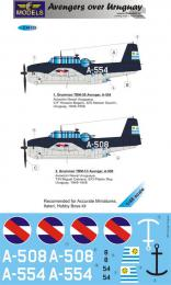 LF MODEL 1/48 Decals Grumman TBF Avenger over Uruguay Pt.1