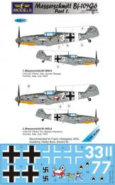 LF MODEL 1/48 Decals Messerschmitt Bf 109G-6 Comiso Pt.1