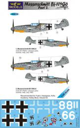 LF MODEL 1/48 Decals Messerschmitt Bf 109G-6 Comiso Pt.2