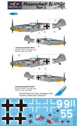 LF MODEL 1/48 Decals Messerschmitt Bf 109G-6 Comiso Pt.3