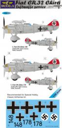 LF MODEL 1/48 Decals Fiat CR.32 Chirri Luftwaffe Service