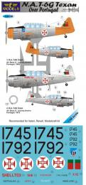 1/48 Decals N.A. T-6G Texan over Portugal for ITA, REV