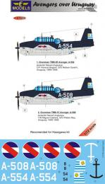 LF MODEL 1/72 Decals Grumman TBF Avenger over Uruguay Pt.1