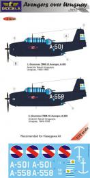 LF MODEL 1/72 Decals Grumman TBF Avenger over Uruguay Pt.2