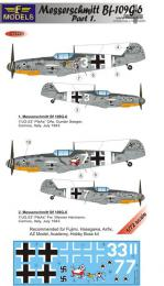LF MODEL 1/72 Decals Messerschmitt Bf 109G-6 Comiso Pt.1