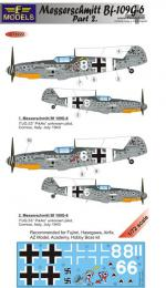 LF MODEL 1/72 Decals Messerschmitt Bf 109G-6 Comiso Pt.2