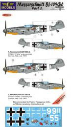LF MODEL 1/72 Decals Messerschmitt Bf 109G-6 Comiso Pt.3