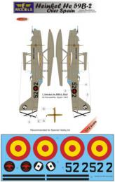 LF MODEL 1/72 Decals Heinkel He 59B-2 over Spain