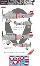 LF MODEL 1/72 Decals Fiat CR.32 Chirri over Austria