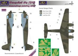 LF MODEL 1/32 Mask Henschel Hs 129B Camouflage painting