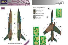 LF MODELS 1/32 Mask F-105F/G Thunderchief Camouflage painting