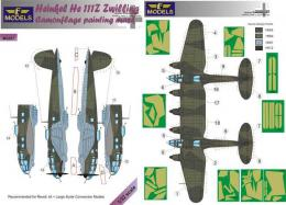LF MODELS 1/32 Mask He 111Z Zwilling Camouflage painting