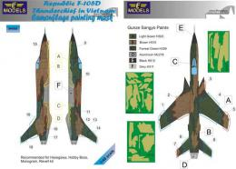 LF MODELS 1/48 Mask F-105D Thunderchief Camouflage painting