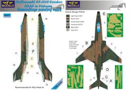 1/48 Mask RF-101C Voodoo USAF Camouflage painting