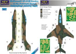 1/48 Mask RF-101B Voodoo ANG Camouflage painting