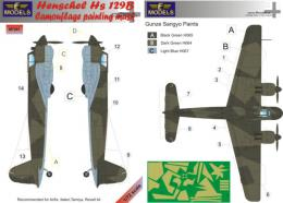 LF MODEL 1/72 Mask Henschel Hs 129B Camouflage painting