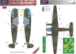 LF MODEL 1/72 Mask Siebel Si-204D Camouflage painting