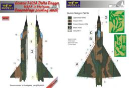 1/72 Mask F-102A Delta Dagger USAF Camo.painting