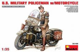 MINIART 1/35  US Military Policeman W/Motorcycle