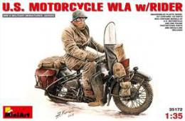MINIART 1/35  US Motorcycle Wla With Rider