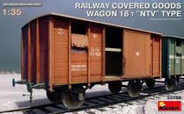 MINIART 1/35 Railway Cover GoodsWagon 18t NTVtyp