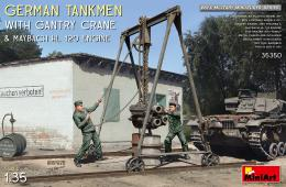 1/35 German Tankmen w/ Gantry Crane&Maybach HL 120