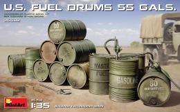 MINIART 1/35 US fuel Drums ( 55 Gals )