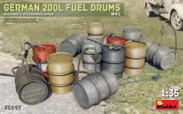 MINIART 1/35 German 200l Fuel drum set WWII