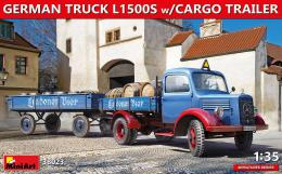 MINIART 1/35 German Truck L1500S w/Cargo Trailer